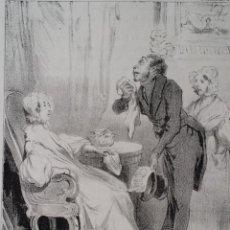 Arte: HONORE DAUMIER: LITOGRAFIA DE 1839 / ROBERT MACAIRE MARBRIER. Lote 271671438