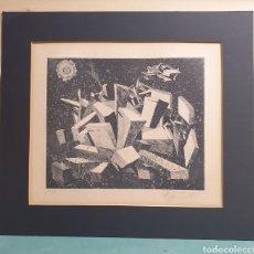 Arte: GRABADO PRUEBA DE AUTOR FIRMADO A LÁPIZ CUBISMO SURREALISTA AÑO 1975. Lote 272035873