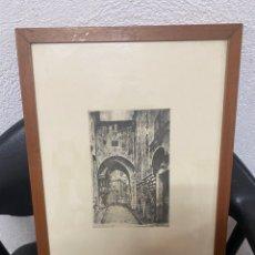 Arte: GRABADO FIRMADO POR E. FAGIUOLI 1945. Lote 272238763