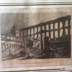 Arte: ANTIGUO GRABADO ACUEDUCTO DE SEGOVIA AÑO 1860. Lote 273404423