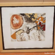 Arte: JOSEP GUINOVART - DON QUIJOTE - GRABADO AL CARBORUNDUM - 73 X 85 CM.. Lote 274031228
