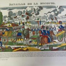 Arte: BATAILLE DE LA MOSCOWA, NAPOLEÓN. IMAGERIE PELLERIN, ÉPINAL. SIGLO XX.. Lote 274557673