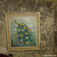 Arte: ANTIGUO OLEO PINTURA IMPRESIONISTA CLAVELES FIRMA PERIS O PIER A ESTUDIAR CALIDAD QUIZAS FRANCE. Lote 212613357