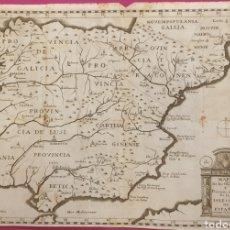 Arte: GRAN GRABADO DE UN MAPA DE LOS OBISPADOS Y PROVINCIAS DE ESPAÑA DE ENTRE 1700 A 1800. Lote 275722173