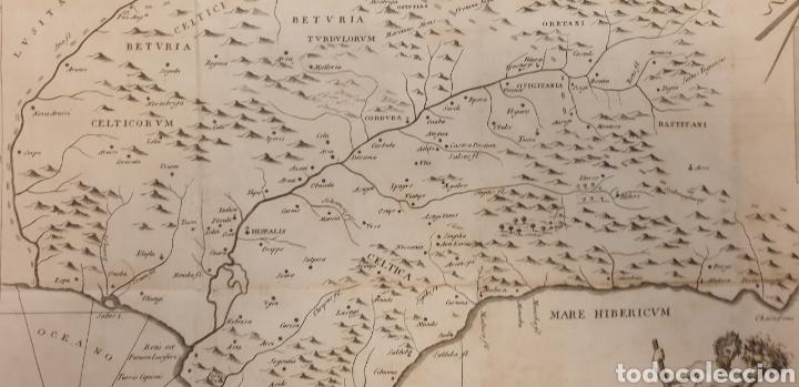 Arte: Gran grabado de entre 1700 a 1800 de la bética antigua ríos y montes - Foto 2 - 275723018