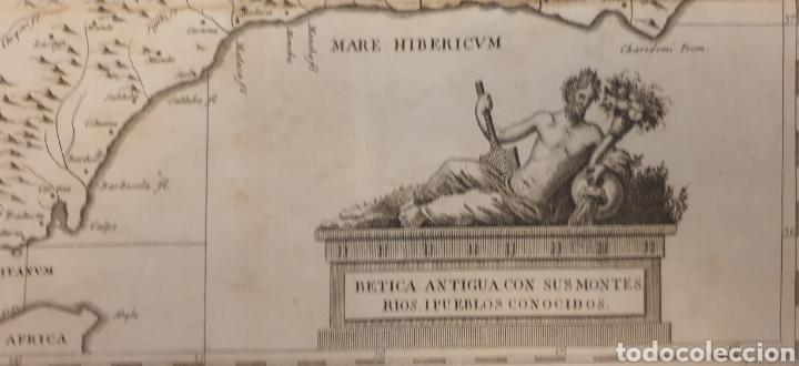 Arte: Gran grabado de entre 1700 a 1800 de la bética antigua ríos y montes - Foto 3 - 275723018