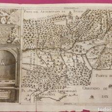 Arte: GRAN GRABADO DE PARTE DEL ARZOBISPADO DE TOLEDO DE ENTRE 1700 A 1800. Lote 275723383