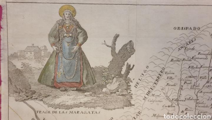 Arte: Gran grabado de la lusitana antigua de 1764 tiene mujeres con trajes regionales coloreados - Foto 3 - 275725738