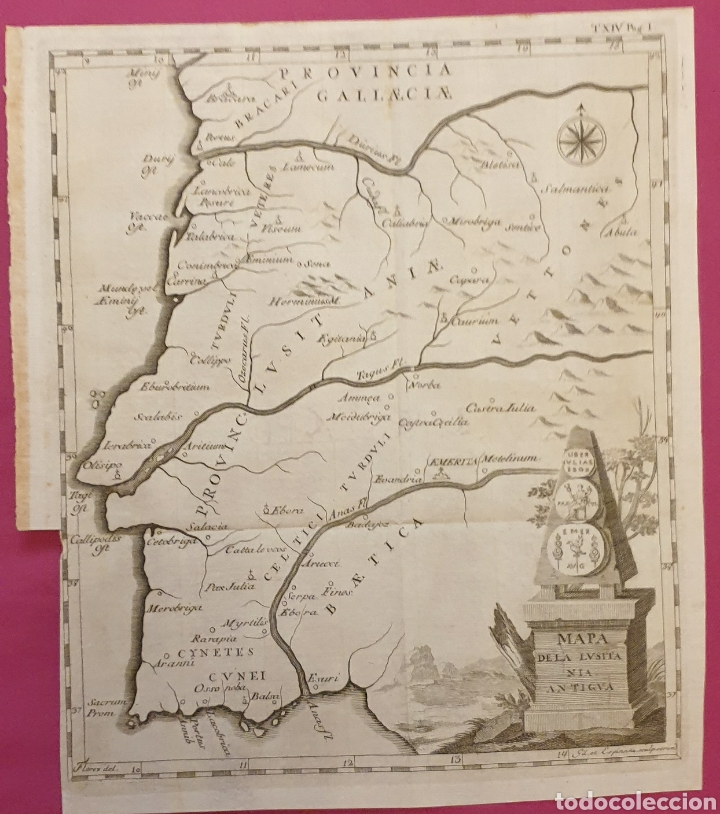GRAN GRABADO DE LA LUSITANA ANTIGUA DE 1764 TIENE MUJERES CON TRAJES REGIONALES COLOREADOS (Arte - Grabados - Antiguos hasta el siglo XVIII)