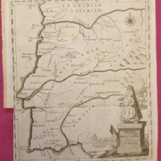 Arte: GRAN GRABADO DE LA LUSITANA ANTIGUA DE 1764 TIENE MUJERES CON TRAJES REGIONALES COLOREADOS. Lote 275725738