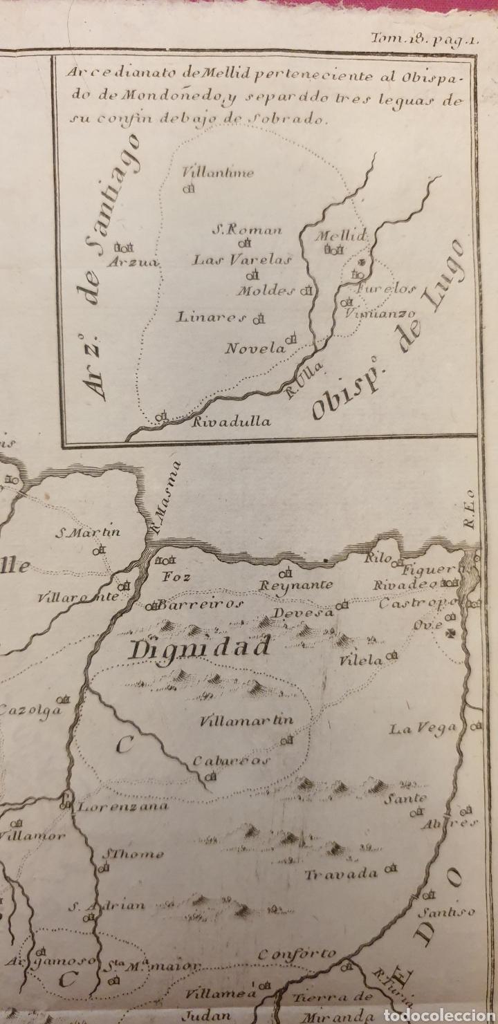 Arte: Grabado antiguo muy raro del obispado de Mondoñedo de entre 1700 a 1800 - Foto 3 - 275726728