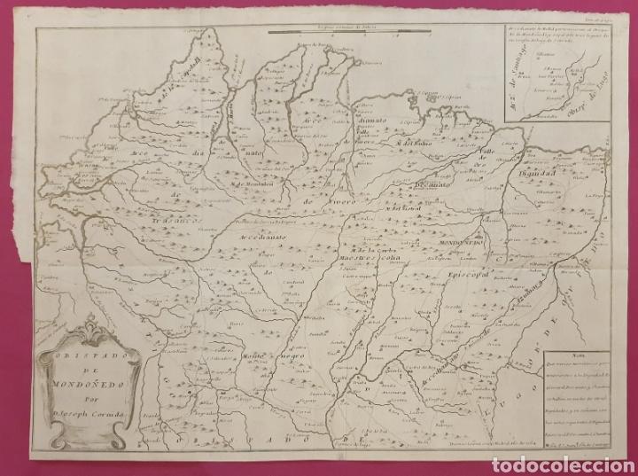GRABADO ANTIGUO MUY RARO DEL OBISPADO DE MONDOÑEDO DE ENTRE 1700 A 1800 (Arte - Grabados - Antiguos hasta el siglo XVIII)