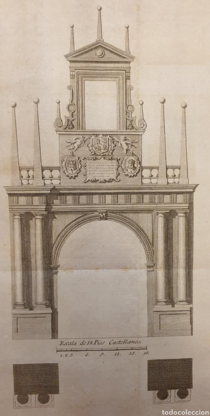 Arte: Grabado antiguo entre 1700 a 1800 del arco de Fernando González de Burgos - Foto 2 - 275728528