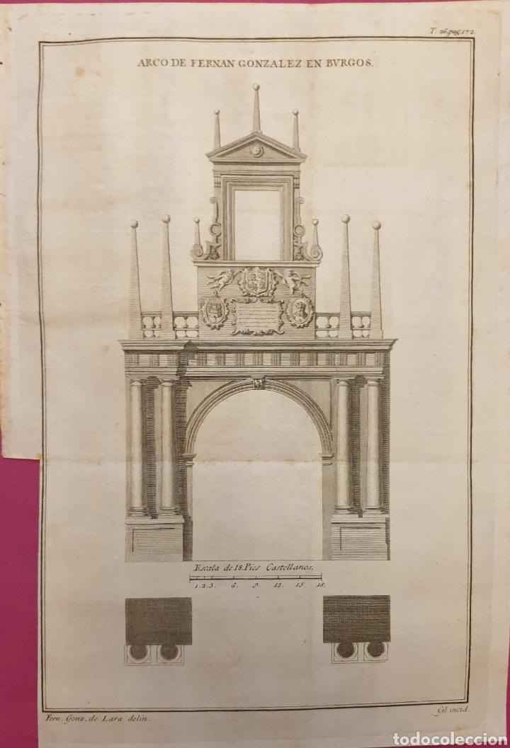 GRABADO ANTIGUO ENTRE 1700 A 1800 DEL ARCO DE FERNANDO GONZÁLEZ DE BURGOS (Arte - Grabados - Antiguos hasta el siglo XVIII)