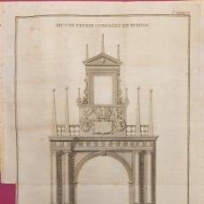 Arte: GRABADO ANTIGUO ENTRE 1700 A 1800 DEL ARCO DE FERNANDO GONZÁLEZ DE BURGOS. Lote 275728528