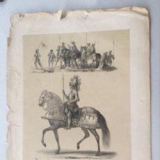 Arte: TRAGES MILITARES Y ARMAS ESPAÑOLAS DEL SIGLO XVI. ESPAÑA ARTÍSTICA Y MONUMENTAL 1842. Lote 275731623