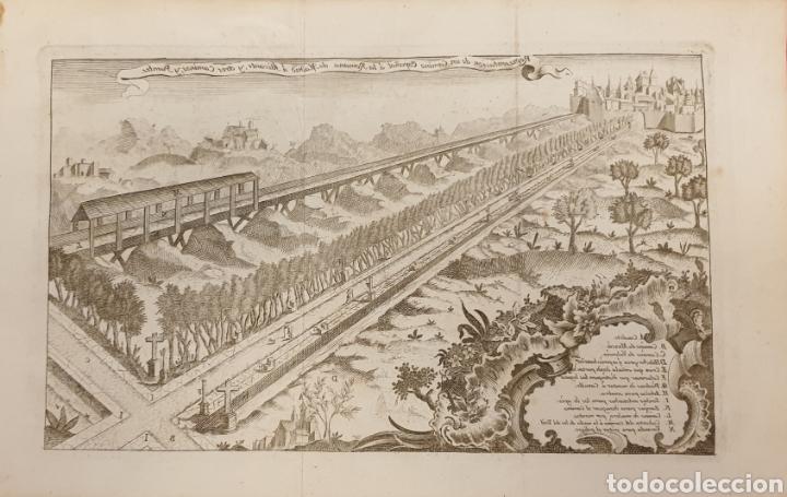 GRABADO SOBRE UN CAMINO ROMANOS O MEDIEBALES DE 1700 A 1800 (Arte - Grabados - Antiguos hasta el siglo XVIII)