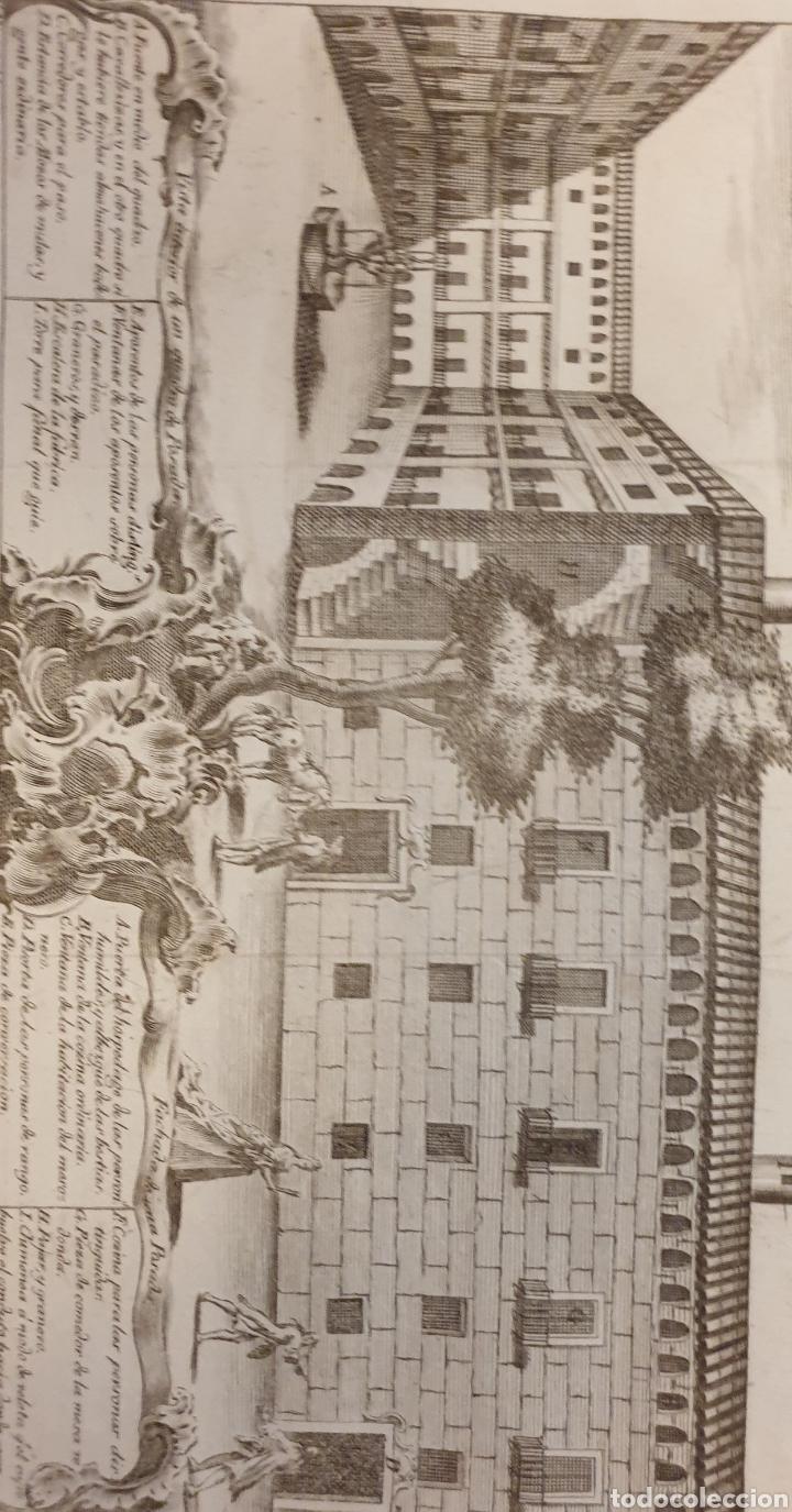 Arte: Grabado de una posada antigua de entre 1700 1800 - Foto 2 - 275732543