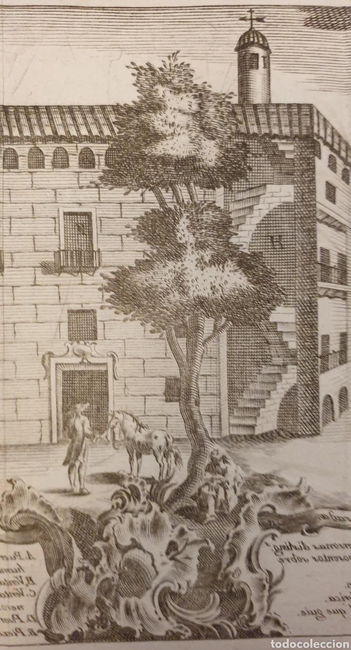 Arte: Grabado de una posada antigua de entre 1700 1800 - Foto 3 - 275732543