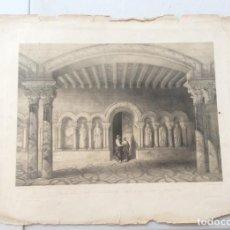 Arte: MONASTERIO DE BENENIVERE (PALENCIA)1842. ESPAÑA ARTÍSTICA Y MONUMENTAL.. Lote 275734053
