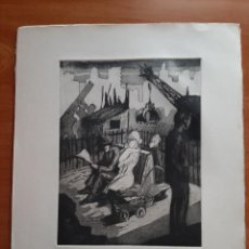 Arte: GIL MORENO DE MORA : AGUAFUERTE - LA MAMAÍTA. Lote 275844418