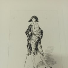 Arte: FORTUNY POR MIGUEL SEGUÍ (BARCELONA 1858-1923) GRABADO RETRATO A LA PLUMA CENTENARIO MUERTE 1975. Lote 275879428