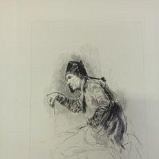 Arte: FORTUNY POR MIGUEL SEGUÍ (BARCELONA 1858-1923) GRABADO EL INVÁLIDO CENTENARIO MUERTE 1975. Lote 275880483