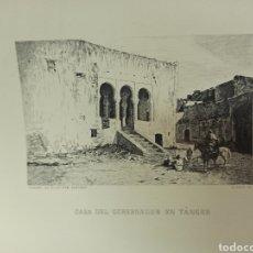 Arte: FORTUNY POR MIGUEL SEGUÍ (BARCELONA 1858-1923) GRABADO CASA DEL GOBERNADOR EN TÁNGER. CENTENARIO 197. Lote 275882183