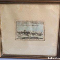 Arte: ANTIGUO GRABADO DE BURGOS ,COLOREADO A MANO SIGLO XVII. Lote 275932098