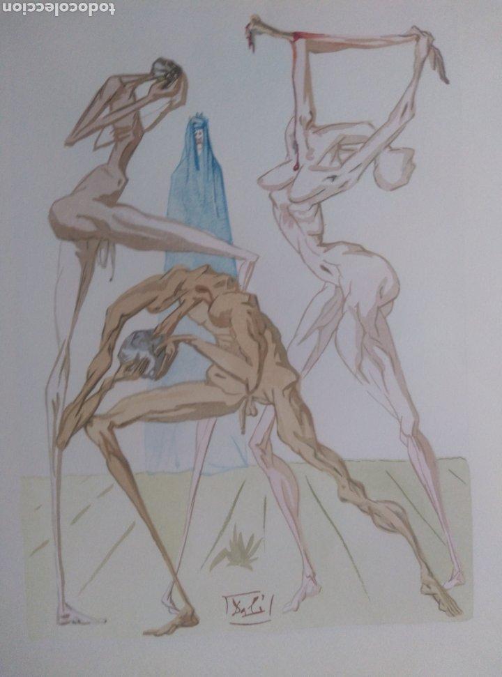 """Arte: Xilografía original perteneciente a """"La Divina Comedia"""" Les Habitants de Prato - Foto 4 - 26824354"""