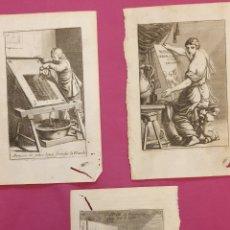 Arte: GRABADOS SOBRE LOS OFICIOS DE IMPRENTA DE ENTRE 1700 A 1800. Lote 275963678