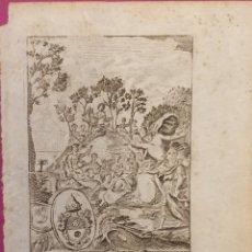 Arte: SERIGRAFIA PEQUEÑA SOBRE ALEGORIA A LA HISTORIA ENTRE 1700 A 1800. Lote 275963998