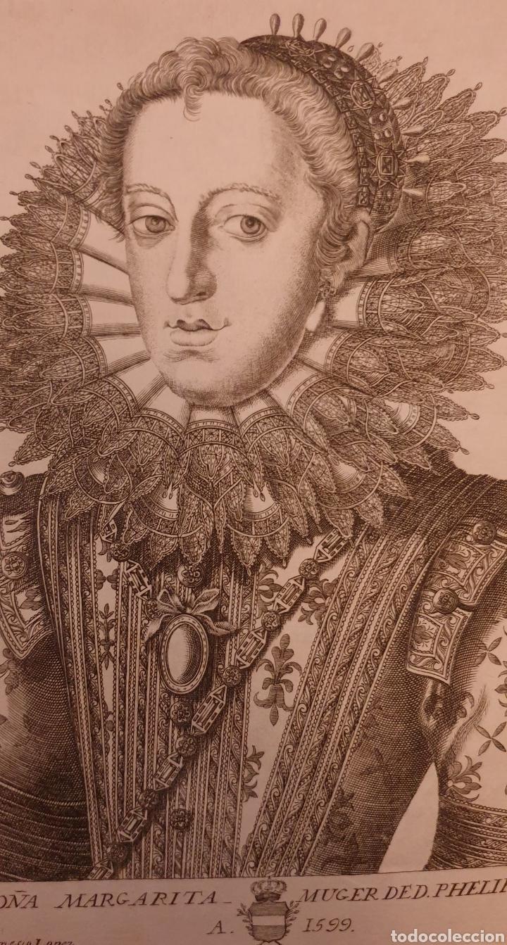 Arte: Grabado de la mujer de FELIPE II de entre 1700 a 1800 - Foto 2 - 275964973