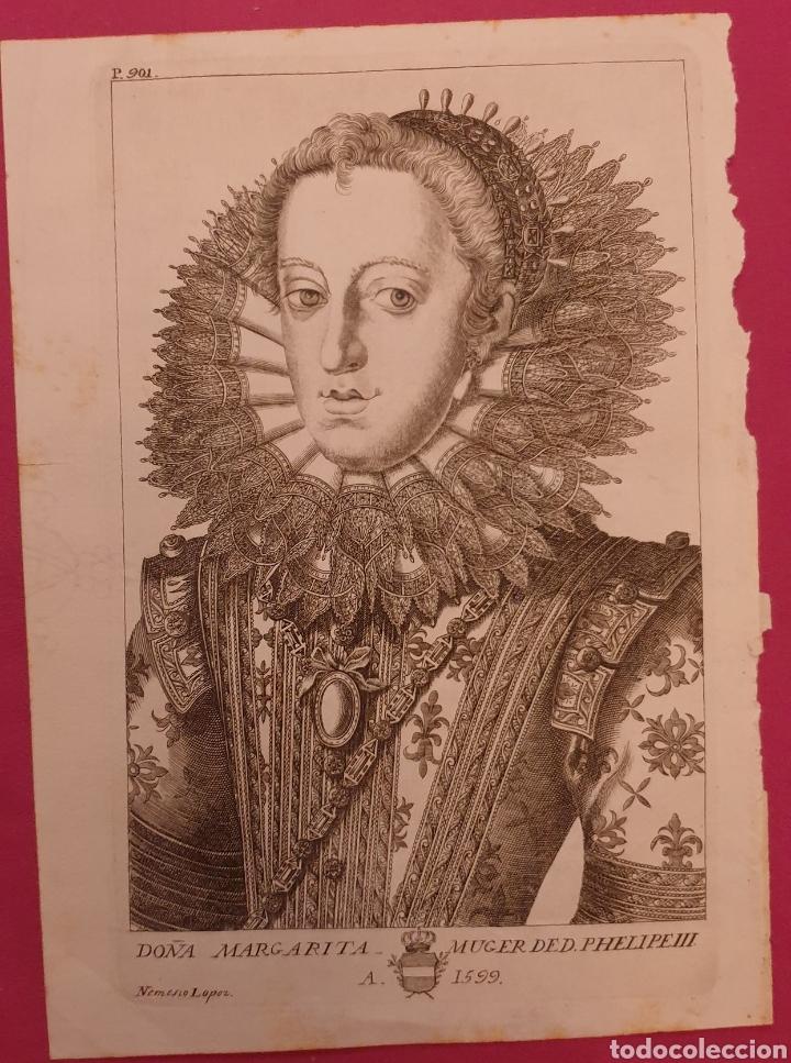 GRABADO DE LA MUJER DE FELIPE II DE ENTRE 1700 A 1800 (Arte - Grabados - Antiguos hasta el siglo XVIII)