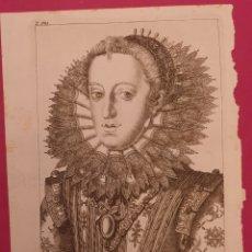Arte: GRABADO DE LA MUJER FE FELIPE II DE ENTRE 1700 A 1800. Lote 275964973