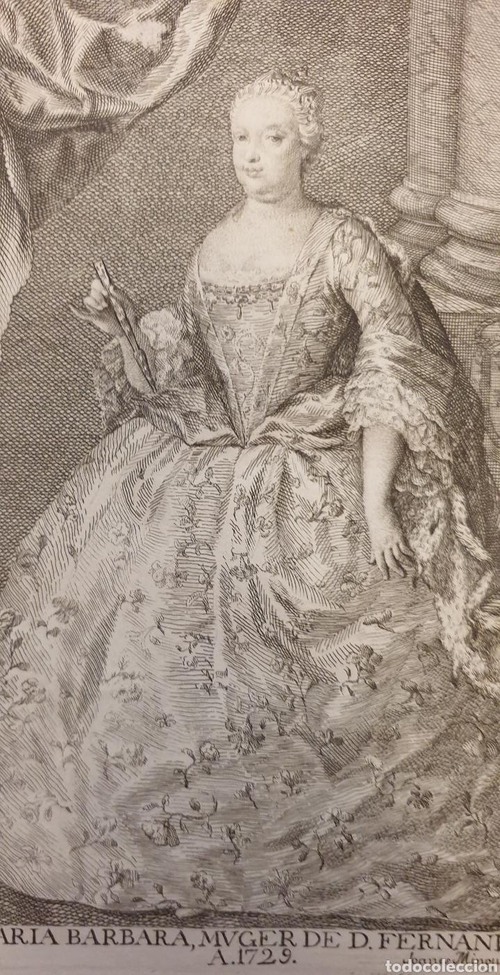 Arte: Bonito grabado de Fernando VI de entre 1700 a 1800 - Foto 2 - 275965373