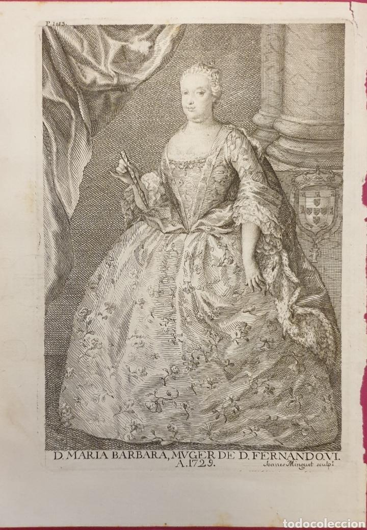 BONITO GRABADO DE FERNANDO VI DE ENTRE 1700 A 1800 (Arte - Grabados - Antiguos hasta el siglo XVIII)