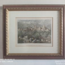 Arte: CUADRO VISTA DEL ALHAMBRA Y GENERALIFE DESDE EL ALBAICÍN. Lote 276071198