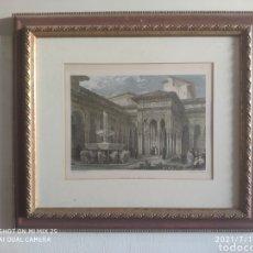 Arte: CUADRO PATIO DE LOS LEONES DE LA ALHAMBRA DE GRANADA. Lote 276071498