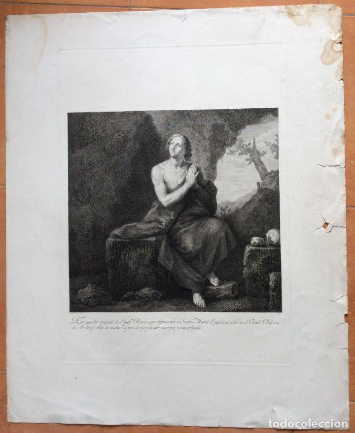 Arte: Santa María EGIPCIACA ,AGUAFUERTE 1797 - Foto 2 - 276087163