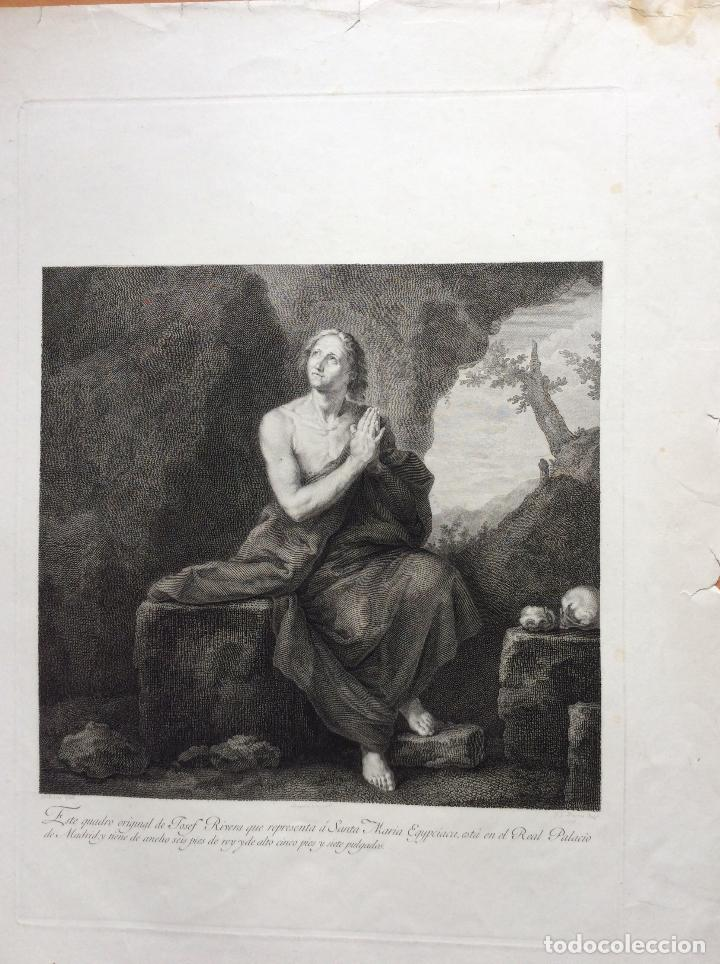 SANTA MARÍA EGIPCIACA ,AGUAFUERTE 1797 (Arte - Grabados - Antiguos hasta el siglo XVIII)