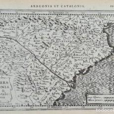 Arte: MAPA DE ARAGONIA Y CATALONIA. PETRUS KAERIUS. AMSTERDAM. SIGLO XVII.. Lote 276630568