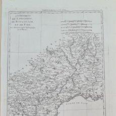 Arte: MAPA DEL LLANGUDOC Y EL ROSELLON. M. BONNE. FRANCIA. SIGLO XVIII.. Lote 276662593