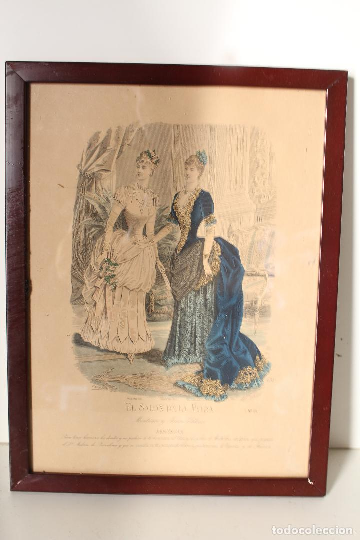 Arte: EL SALON DE LA MODA , montaner y simon - barcelona - grabado moda -primeros años 1900 - Foto 3 - 276774343