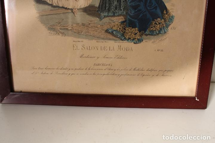Arte: EL SALON DE LA MODA , montaner y simon - barcelona - grabado moda -primeros años 1900 - Foto 4 - 276774343