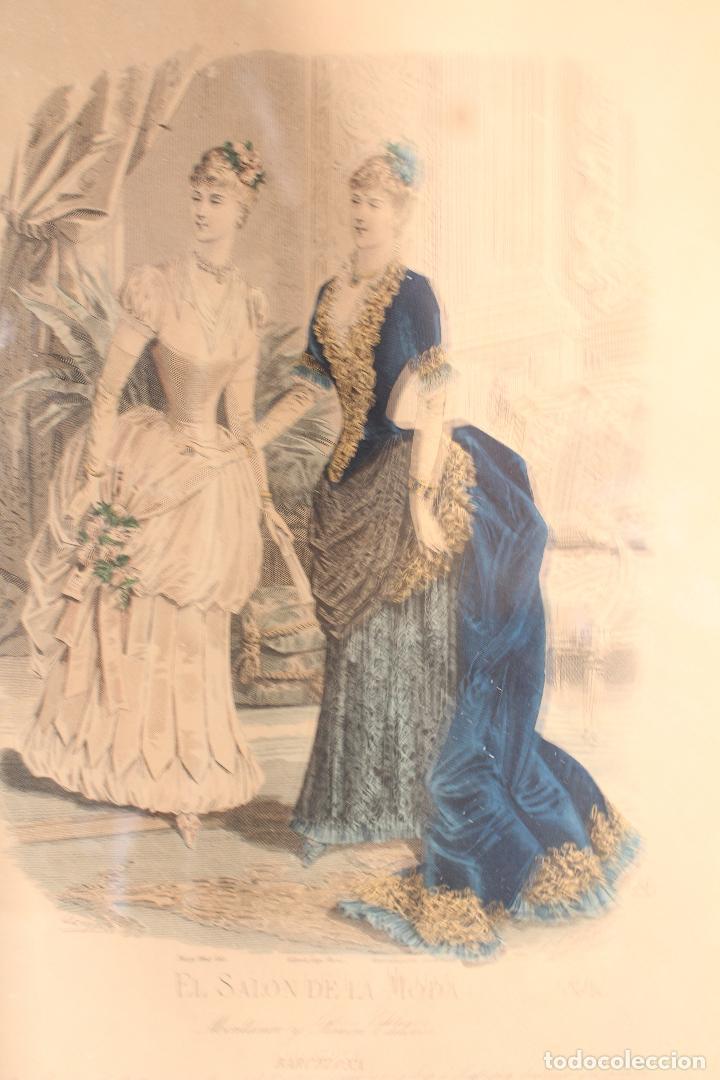 Arte: EL SALON DE LA MODA , montaner y simon - barcelona - grabado moda -primeros años 1900 - Foto 5 - 276774343