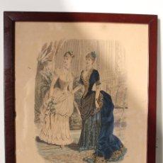 Arte: EL SALON DE LA MODA , MONTANER Y SIMON - BARCELONA - GRABADO MODA -PRIMEROS AÑOS 1900. Lote 276774343