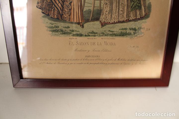 Arte: EL SALON DE LA MODA , montaner y simon - barcelona - grabado moda -primeros años 1900 - Foto 2 - 276774453