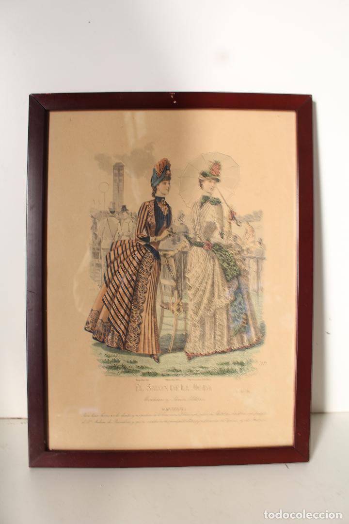 Arte: EL SALON DE LA MODA , montaner y simon - barcelona - grabado moda -primeros años 1900 - Foto 3 - 276774453