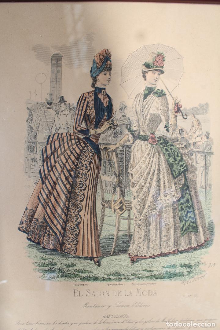 Arte: EL SALON DE LA MODA , montaner y simon - barcelona - grabado moda -primeros años 1900 - Foto 5 - 276774453